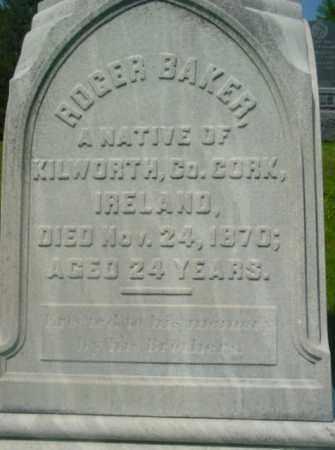 BAKER, ROGER - Berkshire County, Massachusetts   ROGER BAKER - Massachusetts Gravestone Photos