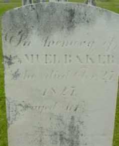 BAKER, SAMUEL - Berkshire County, Massachusetts | SAMUEL BAKER - Massachusetts Gravestone Photos