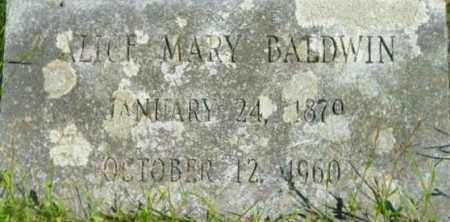 BALDWIN, ALICE MARY - Berkshire County, Massachusetts   ALICE MARY BALDWIN - Massachusetts Gravestone Photos