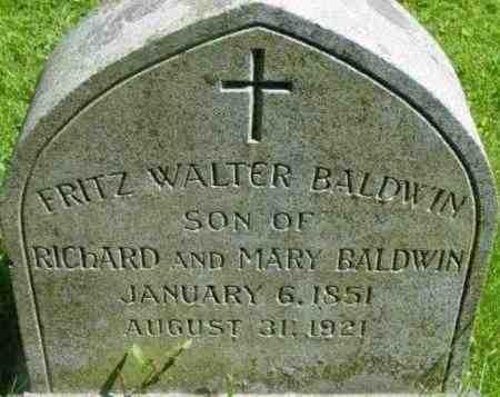 BALDWIN, FRITZ WALTER - Berkshire County, Massachusetts | FRITZ WALTER BALDWIN - Massachusetts Gravestone Photos
