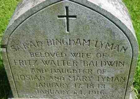 BALDWIN, SARAH BINGHAM - Berkshire County, Massachusetts | SARAH BINGHAM BALDWIN - Massachusetts Gravestone Photos