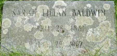 BALDWIN, SARAH LILLIAN - Berkshire County, Massachusetts | SARAH LILLIAN BALDWIN - Massachusetts Gravestone Photos