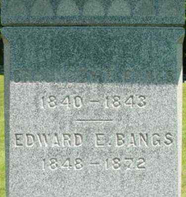 BANGS, EDWARD E - Berkshire County, Massachusetts | EDWARD E BANGS - Massachusetts Gravestone Photos