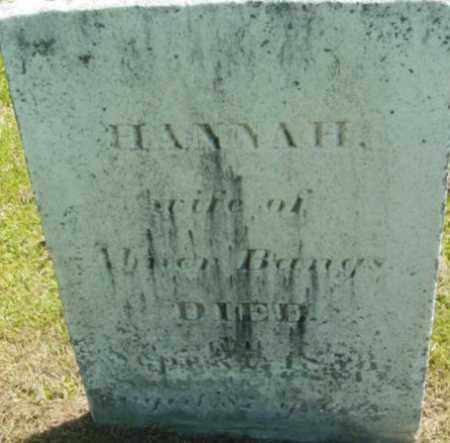 BANGS, HANNAH - Berkshire County, Massachusetts | HANNAH BANGS - Massachusetts Gravestone Photos