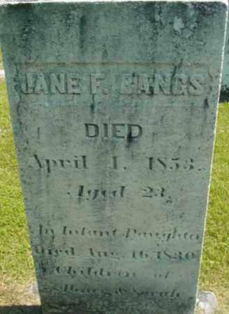 BANGS, JANE F - Berkshire County, Massachusetts | JANE F BANGS - Massachusetts Gravestone Photos