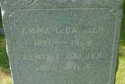 BARBER, EMMA L - Berkshire County, Massachusetts | EMMA L BARBER - Massachusetts Gravestone Photos