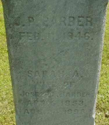 BARBER, J P - Berkshire County, Massachusetts | J P BARBER - Massachusetts Gravestone Photos