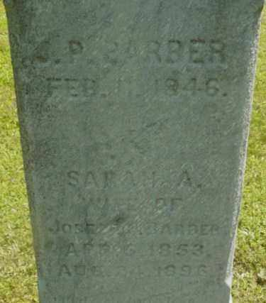 BARBER, SARAH A - Berkshire County, Massachusetts | SARAH A BARBER - Massachusetts Gravestone Photos