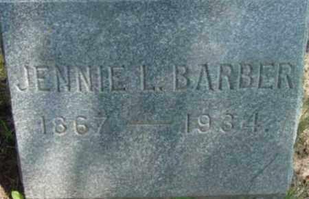 BARBER, JENNIE L - Berkshire County, Massachusetts | JENNIE L BARBER - Massachusetts Gravestone Photos