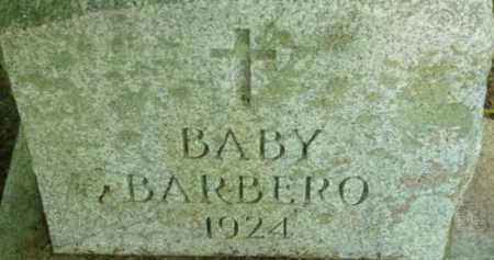 BARBERO, BABY - Berkshire County, Massachusetts | BABY BARBERO - Massachusetts Gravestone Photos