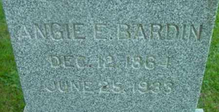 BARDIN, ANGIE E - Berkshire County, Massachusetts | ANGIE E BARDIN - Massachusetts Gravestone Photos