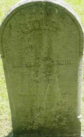 BARDIN, EUNICE - Berkshire County, Massachusetts | EUNICE BARDIN - Massachusetts Gravestone Photos