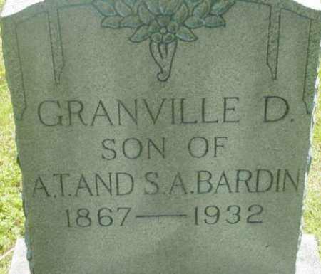 BARDIN, GRANVILLE D - Berkshire County, Massachusetts | GRANVILLE D BARDIN - Massachusetts Gravestone Photos