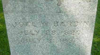 BARDIN, JOEL W - Berkshire County, Massachusetts | JOEL W BARDIN - Massachusetts Gravestone Photos