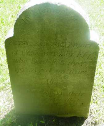 BARKER, BETSEY - Berkshire County, Massachusetts | BETSEY BARKER - Massachusetts Gravestone Photos