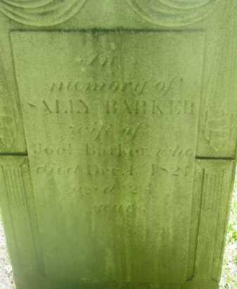 BARKER, SALLY - Berkshire County, Massachusetts | SALLY BARKER - Massachusetts Gravestone Photos