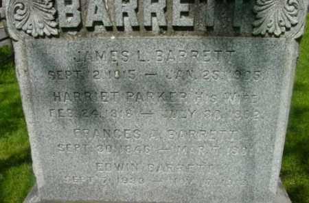 PARKER, HARRIET - Berkshire County, Massachusetts   HARRIET PARKER - Massachusetts Gravestone Photos