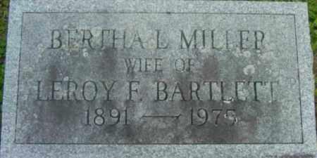 MILLER BARTLETT, BERTHA L - Berkshire County, Massachusetts | BERTHA L MILLER BARTLETT - Massachusetts Gravestone Photos