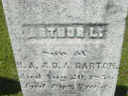 BARTON, ARTHUR L - Berkshire County, Massachusetts   ARTHUR L BARTON - Massachusetts Gravestone Photos