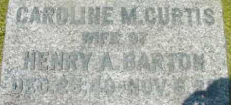 BARTON, CAROLINE M - Berkshire County, Massachusetts | CAROLINE M BARTON - Massachusetts Gravestone Photos