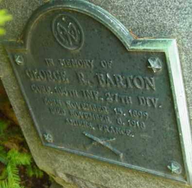 BARTON, GEORGE R - Berkshire County, Massachusetts | GEORGE R BARTON - Massachusetts Gravestone Photos