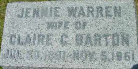 BARTON, JENNIE - Berkshire County, Massachusetts   JENNIE BARTON - Massachusetts Gravestone Photos