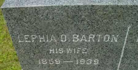 BARTON, LEPHIA O - Berkshire County, Massachusetts | LEPHIA O BARTON - Massachusetts Gravestone Photos