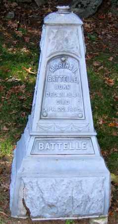 BATTELLE, MARTHA I. - Berkshire County, Massachusetts   MARTHA I. BATTELLE - Massachusetts Gravestone Photos