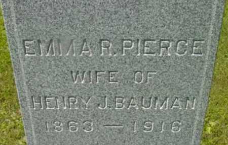 PIERCE, EMMA R - Berkshire County, Massachusetts | EMMA R PIERCE - Massachusetts Gravestone Photos