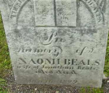 BEALS, NAOMI - Berkshire County, Massachusetts | NAOMI BEALS - Massachusetts Gravestone Photos