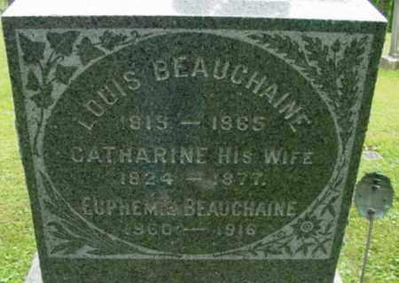 BEAUCHAINE, EUPHEMIE - Berkshire County, Massachusetts | EUPHEMIE BEAUCHAINE - Massachusetts Gravestone Photos