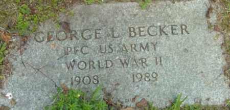 BECKER, GEORGE L - Berkshire County, Massachusetts | GEORGE L BECKER - Massachusetts Gravestone Photos