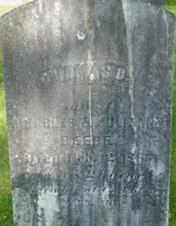 BEEBE, THOMAS D - Berkshire County, Massachusetts | THOMAS D BEEBE - Massachusetts Gravestone Photos