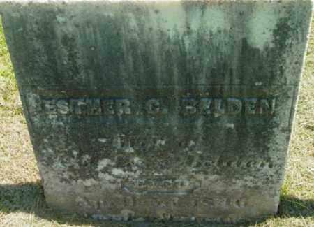 BELDEN, ESTHER C - Berkshire County, Massachusetts | ESTHER C BELDEN - Massachusetts Gravestone Photos