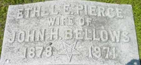 PIERCE BELLOWS, ETHEL E - Berkshire County, Massachusetts | ETHEL E PIERCE BELLOWS - Massachusetts Gravestone Photos