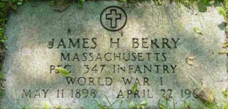 BERRY, JAMES H - Berkshire County, Massachusetts | JAMES H BERRY - Massachusetts Gravestone Photos