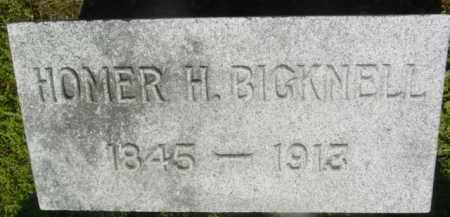 BICKNELL, HOMER H - Berkshire County, Massachusetts | HOMER H BICKNELL - Massachusetts Gravestone Photos