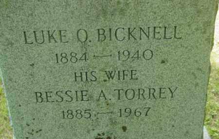 BICKNELL, BESSIE A - Berkshire County, Massachusetts | BESSIE A BICKNELL - Massachusetts Gravestone Photos