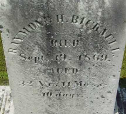 BICKNELL, RAYMOND H - Berkshire County, Massachusetts | RAYMOND H BICKNELL - Massachusetts Gravestone Photos