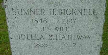 BICKNELL, IDELLA E - Berkshire County, Massachusetts   IDELLA E BICKNELL - Massachusetts Gravestone Photos