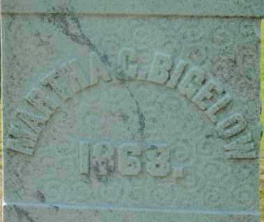 BIGELOW, MARTHA C - Berkshire County, Massachusetts | MARTHA C BIGELOW - Massachusetts Gravestone Photos