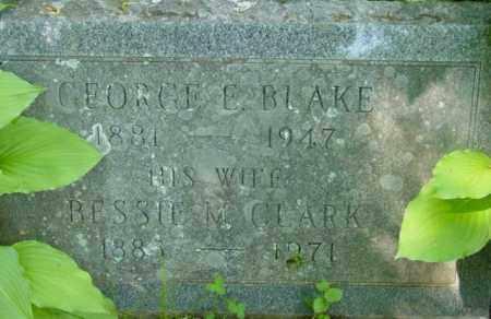 BLAKE, GEORGE E - Berkshire County, Massachusetts | GEORGE E BLAKE - Massachusetts Gravestone Photos