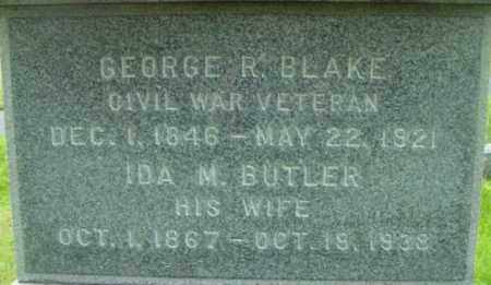 BLAKE, GEORGE R - Berkshire County, Massachusetts | GEORGE R BLAKE - Massachusetts Gravestone Photos
