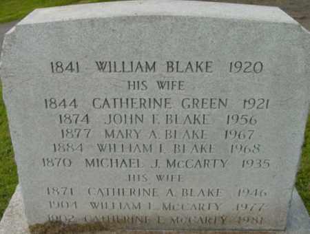 BLAKE, CATHERINE A - Berkshire County, Massachusetts | CATHERINE A BLAKE - Massachusetts Gravestone Photos