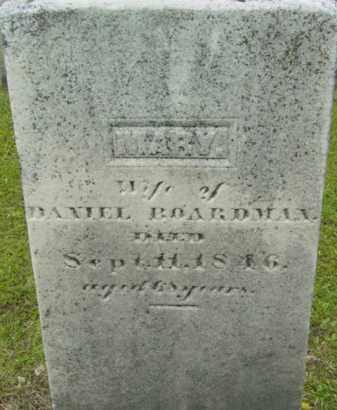BOARDMAN, MARY - Berkshire County, Massachusetts   MARY BOARDMAN - Massachusetts Gravestone Photos