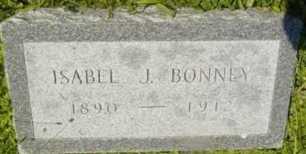 BONNEY, ISABEL J - Berkshire County, Massachusetts | ISABEL J BONNEY - Massachusetts Gravestone Photos