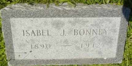 BONNEY, ISABEL J - Berkshire County, Massachusetts | ISABEL J BONNEY - Massachusetts Gravestone Photos