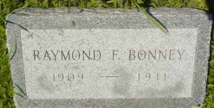 BONNEY, RAYMOND F - Berkshire County, Massachusetts | RAYMOND F BONNEY - Massachusetts Gravestone Photos
