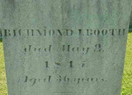 BOOTH, RICHMOND I - Berkshire County, Massachusetts | RICHMOND I BOOTH - Massachusetts Gravestone Photos