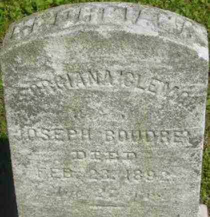 BOUDRE, GEORGIANA - Berkshire County, Massachusetts | GEORGIANA BOUDRE - Massachusetts Gravestone Photos